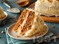 Рецепта Морковена торта с бял шоколад и маскарпоне